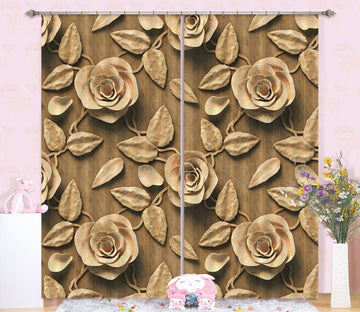 3D Earth Color Flower Leaf 59 Curtains Drapes