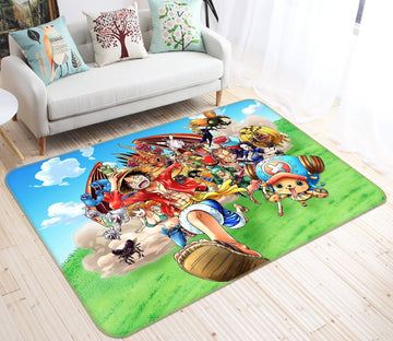 3D One Piece Japan Cartoon Anime 7 Non Slip Rug Mat