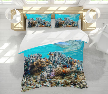 3D Coral Sea 21056 Bed Pillowcases Quilt