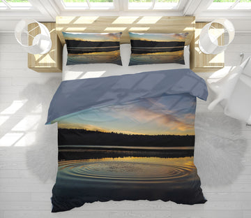 3D Lake Ripples 1019 Jerry LoFaro bedding Bed Pillowcases Quilt