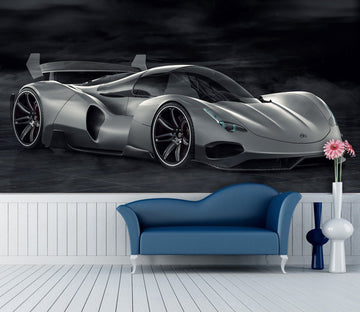 3D Black Sports Car Side 966 Vehicle Wall Murals Wallpaper AJ Wallpaper 2