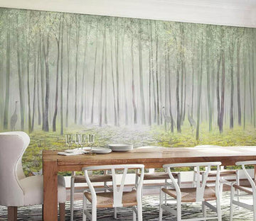 3D Green Woods 1246 Wall Murals