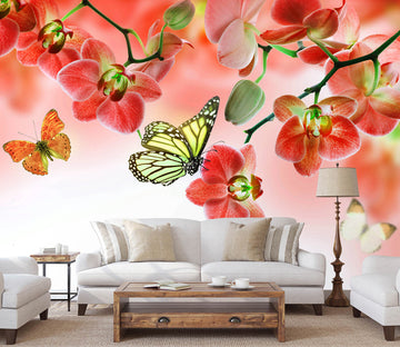 3D Butterfly Flying 399 Wall Murals