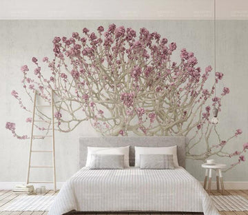 3D Purple Flower Bunch WC229 Wall Murals