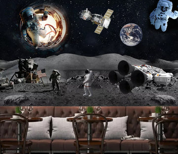3D Astronaut Planet WC1536 Wall Murals