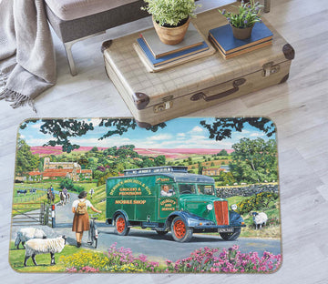3D Over Hill And Dale 1093 Trevor Mitchell Rug Non Slip Rug Mat