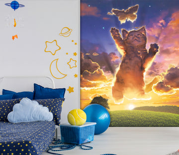 3D Happy Cat 1423 Wall Murals Exclusive Designer Vincent