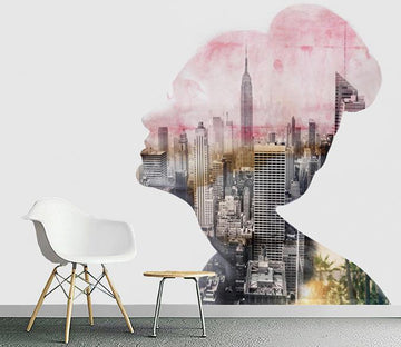 3D Abstract City 206 Wall Murals Wallpaper AJ Wallpaper 2