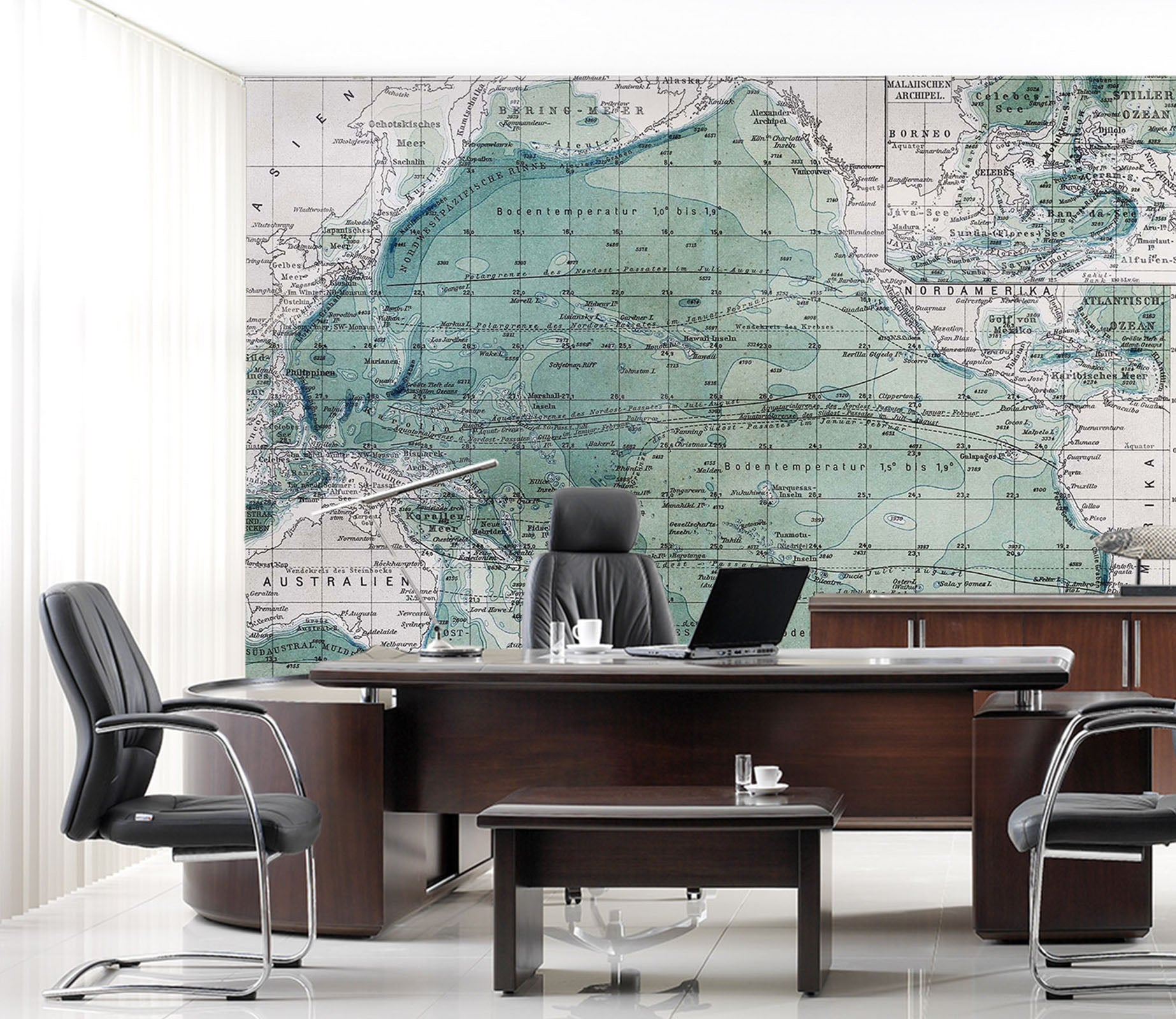 3D Green Map 062 Wall Murals