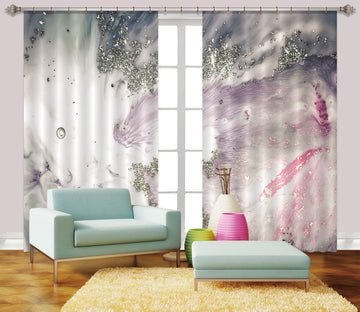 3D Pink Swimming 69 Curtains Drapes