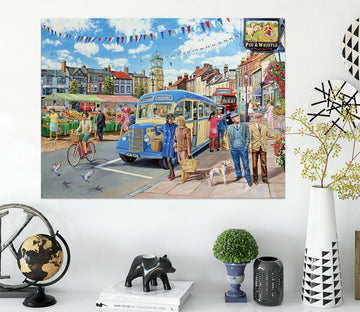 3D Country Bus Terminus 026 Trevor Mitchell Wall Sticker