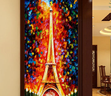 3D Colored Tower 618 Wall Murals