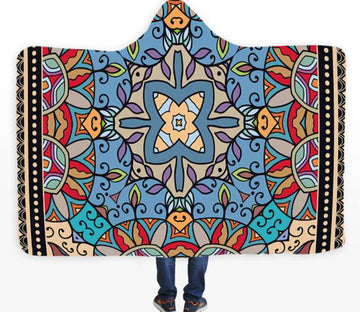 3D Petal Painting 102 Hooded Blanket