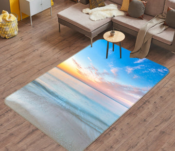 3D Sunset Sea Beach 186 Assaf Frank Rug Non Slip Rug Mat
