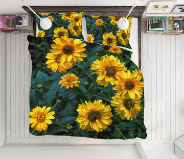 3D Yellow Sunflower 1036 Jerry LoFaro bedding Bed Pillowcases Quilt