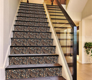 3D Golden Spider Web 866 Marble Tile Texture Stair Risers Wallpaper AJ Wallpaper