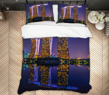 3D Marina Bay Sands 045 Marco Carmassi Bedding Bed Pillowcases Quilt