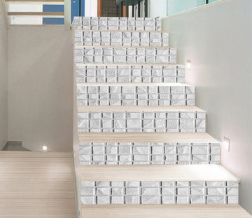 3D Quadrilateral Array 875 Marble Tile Texture Stair Risers Wallpaper AJ Wallpaper
