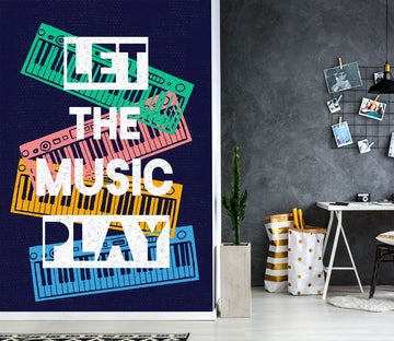 3D Color Piano Letters 58100 Wall Murals