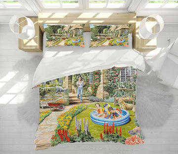 3D Summer Garden 2054 Trevor Mitchell bedding Bed Pillowcases Quilt