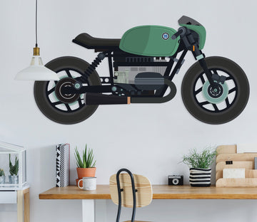 3D Green Motorcycle 258 Vehicles