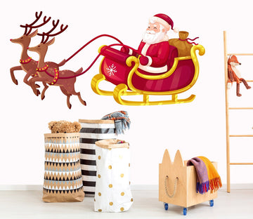 3D Leisurely Sled Deer 29 Wall Stickers Wallpaper AJ Wallpaper