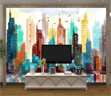 3D High Building 1640 Wall Murals