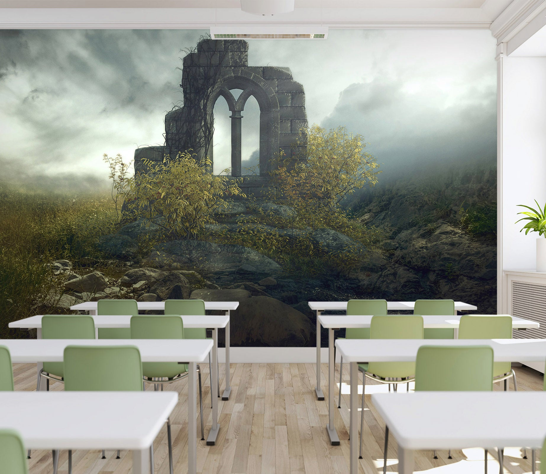 3D Fantasy Window 154 Wall Murals