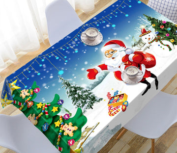 3D Christmas Tree Pentagram 2 Tablecloths Tablecloths AJ Creativity Home