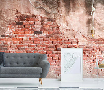 3D Red Brick Wall 45 Wall Murals