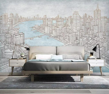 3D Grey City 955 Wall Murals