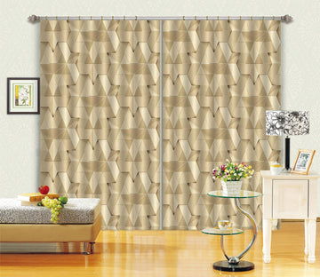 3D Stitching Pentagonal 76 Curtains Drapes