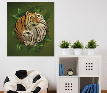 3D Tiger Yin Yang 080 Vincent Hie Wall Sticker