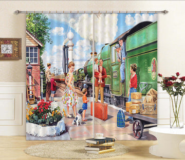 3D The Train Driver 109 Trevor Mitchell Curtain Curtains Drapes