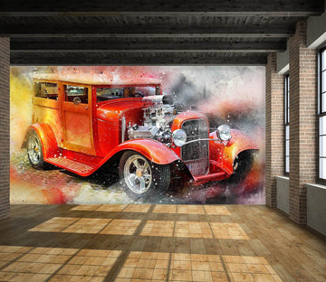 3D Llight Car 940 Vehicle Wall Murals