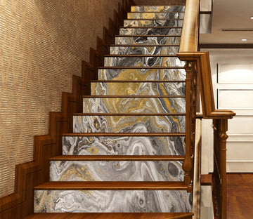 3D River Vortex 65498 Marble Tile Texture Stair Risers Wallpaper AJ Wallpaper