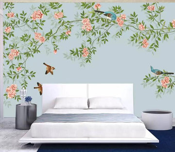 3D Bird Flower 875 Wall Murals Wallpaper AJ Wallpaper 2