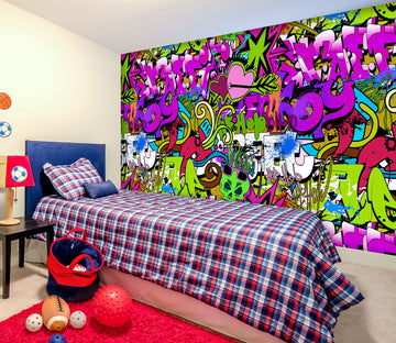 3D Purple Graffiti 1655 Wall Murals