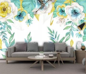 3D Colored Flowers 2480 Wall Murals