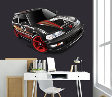 3D Black Red Car 0002 Vehicles Wallpaper AJ Wallpaper
