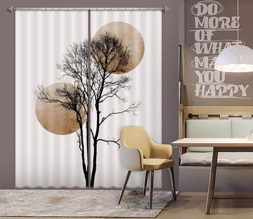 3D Big Tree Pattern 1114 Boris Draschoff Curtain Curtains Drapes