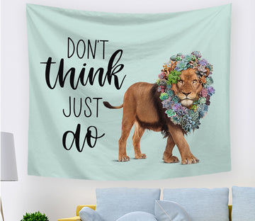 3D Mighty Lion 2408 Tapestry Hanging Cloth Hang