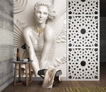 3D Carving Girl 2097 Wall Murals