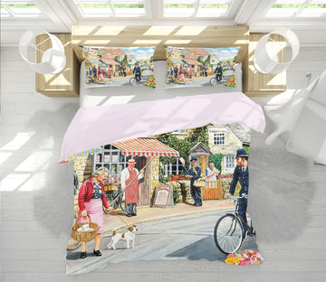 3D The Village High Street 2074 Trevor Mitchell bedding Bed Pillowcases Quilt