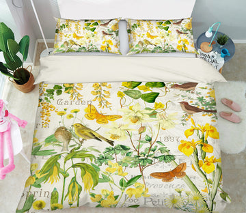 3D Butterfly Kingfisher 043 Studio MetaFlorica Bedding Bed Pillowcases Quilt
