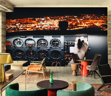 3D airplane Cab 897 Vehicle Wall Murals Wallpaper AJ Wallpaper 2