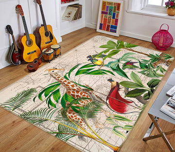 3D Palm Tree Map 1045 Andrea haase Rug Non Slip Rug Mat