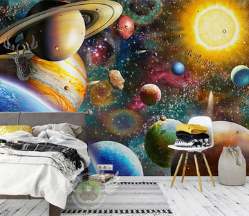 3D Cosmic Planet WC366 Wall Murals