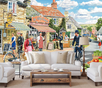 3D The Village High Street 1073 Trevor Mitchell Wall Mural Wall Murals
