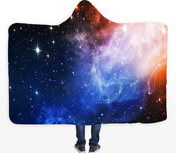 3D Star Galaxy 125 Hooded Blanket